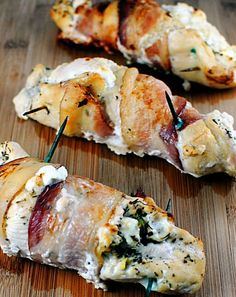 Fresh cheese stuffed chicken chees stuf, chicken breasts, chicken recipes, stuffed chicken, fresh chees, food dinners, stuf chicken, bacon wrapped chicken, goat cheese