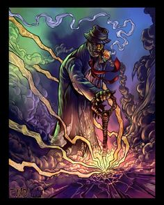 Papa Legba color by Arthammer on deviantART