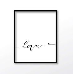 love print Typography print love Wall Art love quote Wall