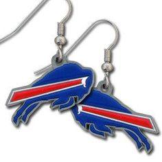 Buffalo Bills Earrings Dangle Style