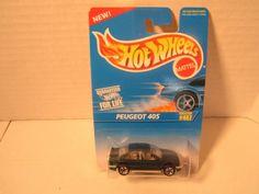 Hot Wheels Peugeot 405 Diecast Car #467 Euro-Sedan Styling NIP 1996 #HotWheels #Peugeot405 #sedanhotwheel