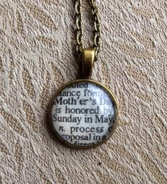 Mother's Day Dictionary Necklace