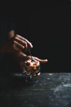 black pepper honey rhubarb cake trifle with strawberry jam and yogurt   A Brown Table