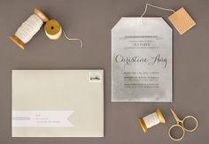 Tea Bag Bridal Shower Invitation Joy Ang