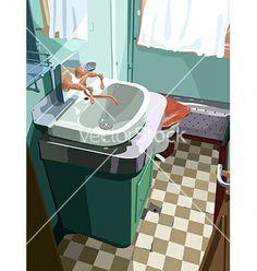 Bathroom cartoon drawing vector by suricoma on VectorStock®