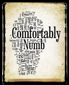Comfortably Numb Pink Floyd Word Art Word by Word Cloud Art, Word Art, Song Quotes, Music Quotes, Numb Quotes, Pink Floyd Lyrics, Pink Floyd Quotes, Arte Pink Floyd, Comfortably Numb
