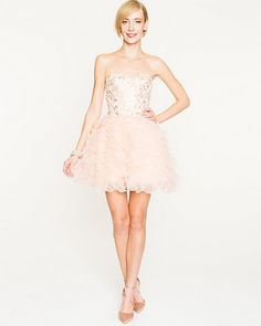 Sequin & Organza Tiered Cocktail Dress - Be the belle of the ball in this intricately embellished sequin and organza party dress. Kate Dress, Contemporary Fashion, Dance Dresses, My Wardrobe, Ballet Skirt, Sequins, Bridesmaid Dresses, Prom, Fashion Outfits