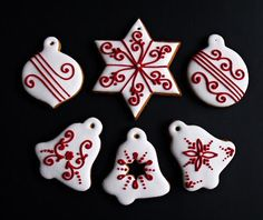 Cute Christmas Desserts, Christmas Cooking, Holiday Desserts, Christmas Treats, Christmas Biscuits, Christmas Sugar Cookies, Holiday Cookies, Gingerbread Decorations, Gingerbread Cookies