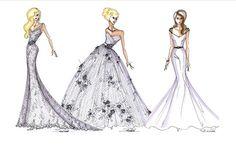 WEDDING DRESS SKETCHES!