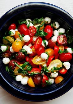 "So fresh&healthy ""tomato basil mozerella salad""  #salad #recipe"