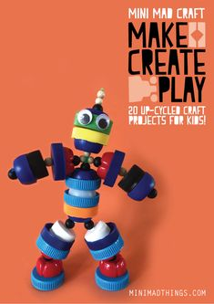 upcycle projects for kids Recycled Crafts Kids, Recycled Art Projects, Arts And Crafts Projects, Book Crafts, Projects For Kids, Fun Crafts, Holiday Crafts, Save On Crafts, Crafts For Kids To Make