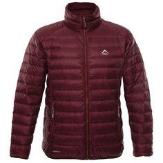 K-Way Men's Drake Down Jacket - Oxblood/Orange Oxblood, Mountain Biking, Drake, Outdoor Gear, Hiking, Winter Jackets, Running, Fashion, Walks