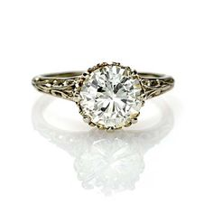 love edwardian engagement rings!!! this one is gorgeous