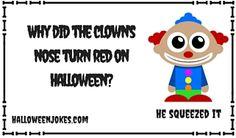 Funny Picture Halloween Joke 7 Clown Nose, Halloween Jokes, Funny Pictures, Family Guy, Thankful, Cartoon, Fanny Pics, Funny Pics, Funny Images