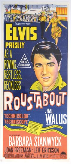 1964 Roustabout Australian Daybill Movie Poster