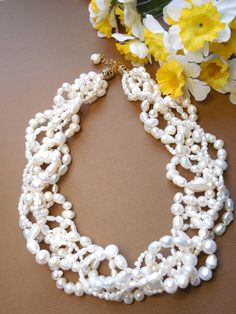Hey, I found this really awesome Etsy listing at https://www.etsy.com/listing/181753319/real-pearl-necklace-multi-strand-pearl