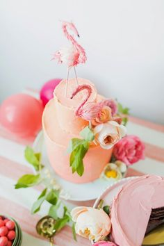 A Flamingo Pop Bridal Shower - The Glam Pad