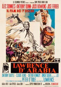 "Movie Posters:Academy Award Winners, Lawrence of Arabia (Columbia, 1963). Italian 2 - Foglio (39"" X55"").. ... Image #1"