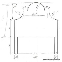 Image result for twin headboard shapes
