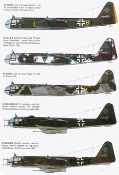 Arado 234 variants
