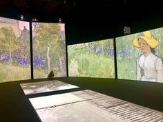 Photos of Van Gogh Alive MAAG Halle Zurich. Exhibition charting the life of Vincent Van Gogh and his life as a painter inn Zurich Switzerland Halle, Zurich, Vincent Van Gogh, Wonderful Time, Something To Do, Art Gallery, Photos, Pictures, Colours