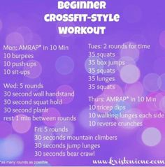 Cross Fit workout for those who are new to this awesome exercise craze.
