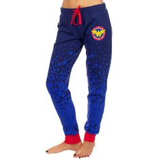 Don these Wonder Woman Ombré French Terry Joggers while you're anxiously awaiting the movie. French terry is an amazing, moisture-wicking fabric and these have a comfortable elastic waist with drawstring.