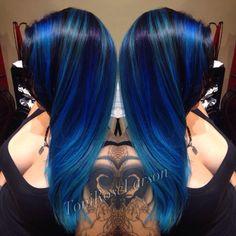 Tener un aspecto fresco con estas ideas frescas de color de cabello - Peinados Beautiful Hair Color, Cool Hair Color, Hair Colors, Purple Hair, Ombre Hair, Turquoise Hair, Neon Hair, Violet Hair, Bright Hair