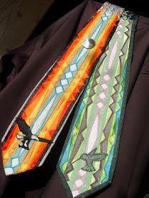 Native American Ribbonwork Ties!!! Marian Desjarlais