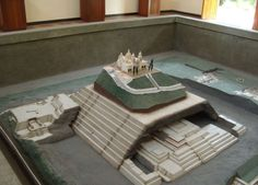 Reconstruction of the Cholula pyramid.