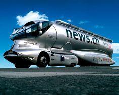 Futuristic Truck, transporter by luigi colani