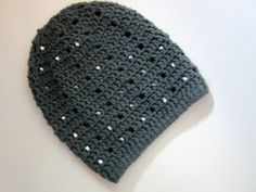 Sequin Slouchy Beanie Made to Order by ElleYarnCreations on Etsy, $23.00