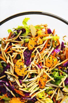 "Vegan Chinese ""Chicken"" (Chickpea) Salad | picklesnhoney.com"