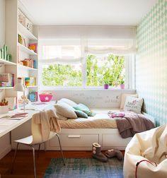 Cantinhos de leitura e descanso junto da janela