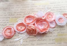Pink maternity belt sash belt wedding belt by DreamyFlowerWonder