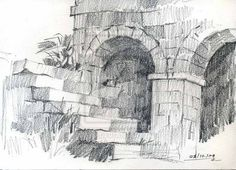 pencil sketching techniques exterior - Google Search