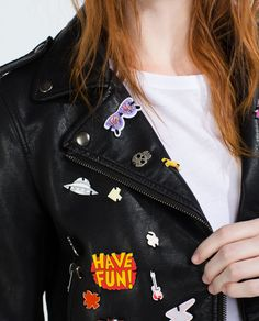 FAUX LEATHER BADGE JACKET-Collection-WOMAN-NEW IN   ZARA United Kingdom