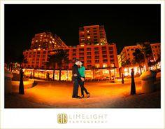 Hyatt Regency Clearwater Beach, Night Engagement Portraits, Clearwater Beach