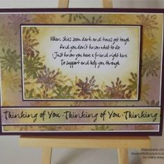 Visible Image stamps - Thinking Of You verse - Kim Bacon