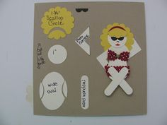 Love 2 Inspire: Punch Art - Beach Babe!
