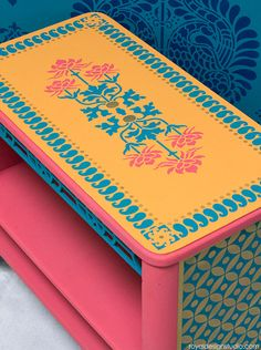 509 best stenciled and painted furniture images on pinterest