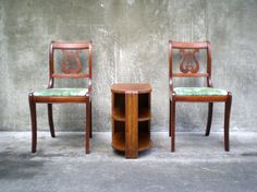 Vintage Harp Back Chairs Pair Of Lyre Back Chairs By ReRunRoom, $175.00