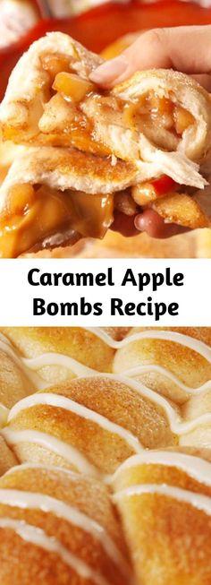 Fall Recipes, Apple Recipes, Crockpot Recipes, Sweet Recipes, Caramel Apple Bombs, Caramel Apples, I Love Food, Good Food, Yummy Food
