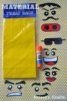 Crissy's Crafts: Lego Party Favor Ideas & Blog Hop http://crissyscrafts.blogspot.fr/
