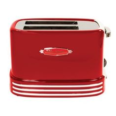 Retro Fashion This Nostalgia Electrics Retro Toaster has wide slots for convenience when for toasting bread, English muffins or frozen waffles. The bright red color also features eye-catching chrome-look trim and accents to give it a cool vintage look. Stainless Steel Toaster, Countertop Microwave Oven, Nostalgia, Retro 2, Retro Style, Cord Storage, Piece Of Bread, Retro Home Decor