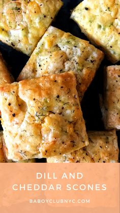 A simple and delicious dill and cheddar scones recipe modified from The Barefoot Contessa. Dill Bread Recipe, Dill Recipes, Scone Recipes, Quiche, Savory Scones, Savoury Baking, Bread Baking, I Love Food, Chowders