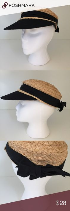 65bea112f1 Brim & Dash Straw Baseball Hat with Leopard bill This hat is great for any  outdoor activity only once twice and is in excellent condition Accessories  Hats