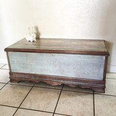 1940u0027s Cedar Chest Makeover Adventure With Colors! #SPiTchallenge