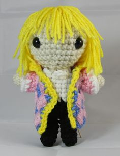 Howl Pendragon Doll from Howl's Moving Castle - Free Amigurumi Pattern here: http://amiguru.tumblr.com/post/71791045854/howl-pendragon-pattern