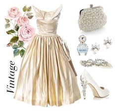 """""""Vintage // B R I D A L"""" by vintagestyler on Polyvore featuring HARRIET WILDE, Marc Jacobs, modern, vintage, women's clothing, women, female, woman, misses and juniors"""